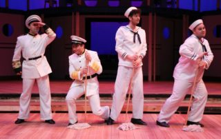 Stage scene from Anything Goes by Metropolis Performing Arts Centre