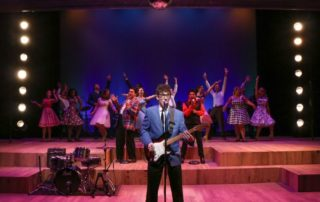 Stage scene from Buddy: The Buddy Holly Story at Metropolis Performing Arts Centre